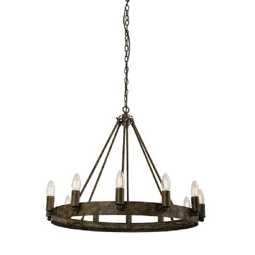 Aged metal effect paint Pendant Light 61026 by Endon